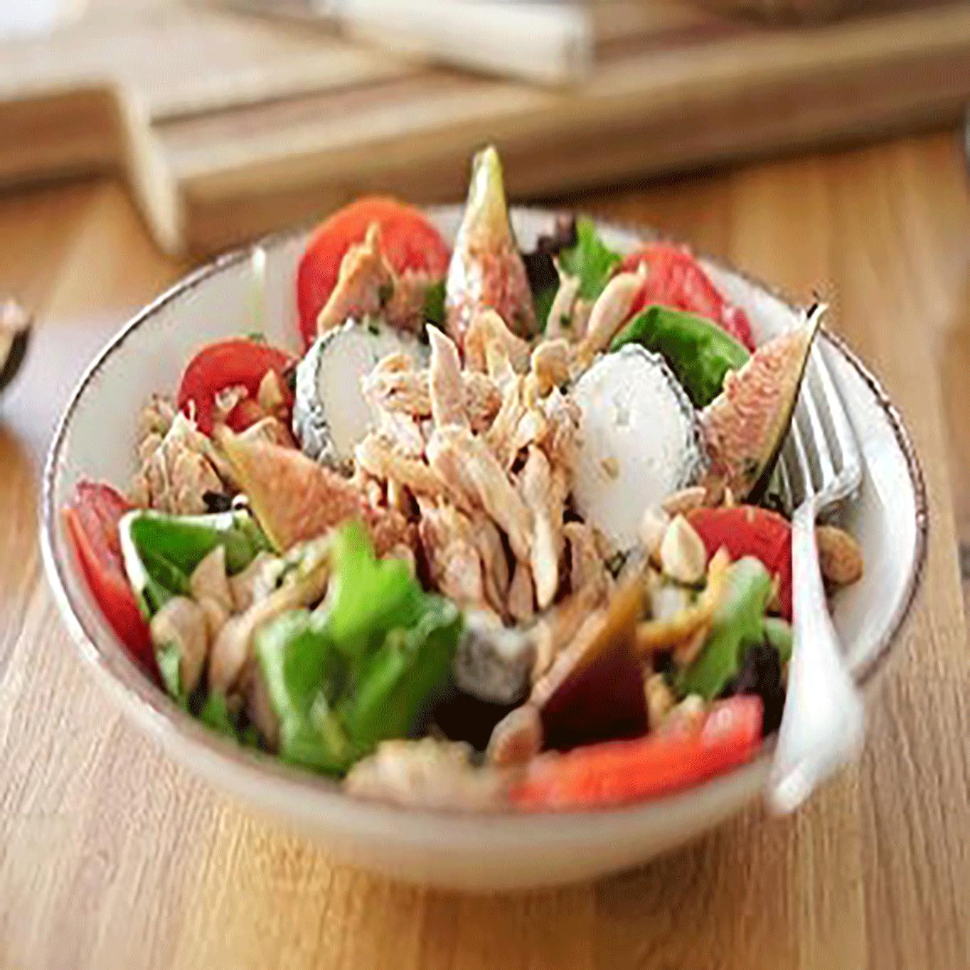 salade-lapin-figues-et-chèvre